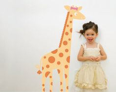 Giraffe Wall Decal: Jungle Animal Nursery Children Baby Kids - for my little girl who is love with giraffes