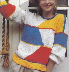 Vintage Knitting Pattern Instructions to Make a Ladies Intarsia Jumper Sweater