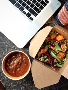 Working through lunch today with buffalo chili and box of salad bar @wholefoodsmarketnapa. This chili is amazing! Buffalo is a great alternative to beef. Low cholesterol, high in Omegas.  #flexitarian #lunch #healthyeating #salad #buffalo #glutenfree #eatclean #eatrealfood #paleo #instafood #happy #love #locavore