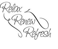 Relax Renew Refresh Vinyl Sticker Decal Home by xpressitall2010, $10.00