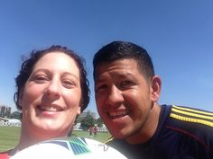 Nick Rimando and me after practice today!