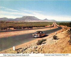Cape Town from National Road retro africa National Road, National Parks, Old Pictures, Old Photos, V&a Waterfront, Cape Town South Africa, Most Beautiful Cities, African History, Vintage Photographs
