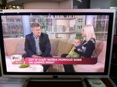 Travelling family in morning show, Polish TV