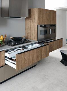 Modern Kitchen Interior Modern Kitchen Cabinets Ideas to Get More Inspiration Dish Small Modern Kitchens, Black Kitchens, Luxury Kitchens, Modern Kitchen Design, Interior Design Kitchen, Cool Kitchens, Fitted Kitchens, Kitchen Contemporary, Interior Modern