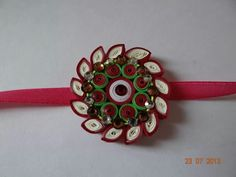 My creation Quilling Jewelry, Paper Jewelry, Paper Quilling, Diy Birthday, Birthday Cards, Quilling Rakhi, Rakhi Making, Paper Crafts, Diy Crafts