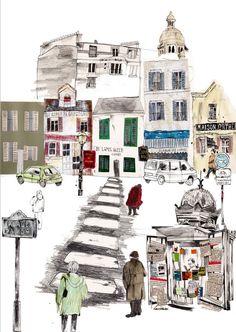 Kate Evans Illusztráció Paris