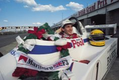 Senna campeão de fórmula 3 inglesa, 1983.