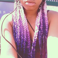 Light Pink & Purple Ombre Box Braids!