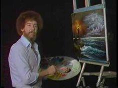Bob Ross Painting Video - Night Light