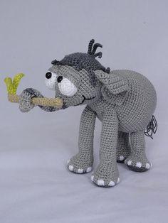 Jambo the Elephant Amigurumi Crochet Pattern by IlDikko on Etsy