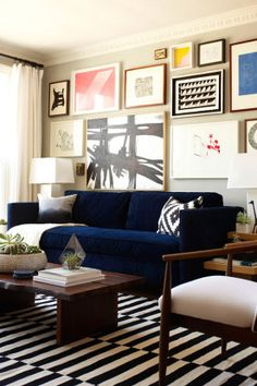 Dunham Sofa + Live-Edge Coffee Table from west elm