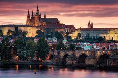 Prague Castle and Charles Bridge - Prague, Czech Republic