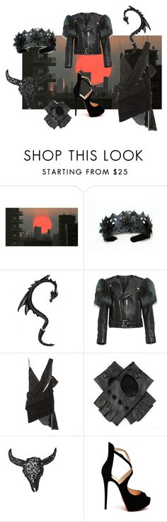 """sunset"" by e-cheli ❤ liked on Polyvore featuring Dot & Bo, Marc Jacobs, Anthony Vaccarello, Black and Christian Louboutin"