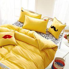 Zebra 100%cotton duvet cover set Lovers bedding set Embroidery Pillow case Square pillow Bedclothes Twin Queen King 4/6pcs