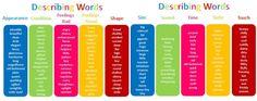 List of describing words