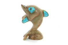 Agate & Turquoise Dolphin Home Decor