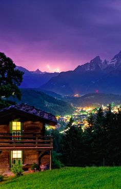 Berchtesgaden Land by night, Germany, by Christian Bothner