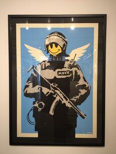 Banksy exhibition at Taglialatella gallery in NY. Sponsored by Pest Control.Photo by Vika Banksy Graffiti, Graffiti Artwork, Bansky, Famous Street Artists, Alternative Art, Chalk Art, Pest Control, Urban Art, Modern Art