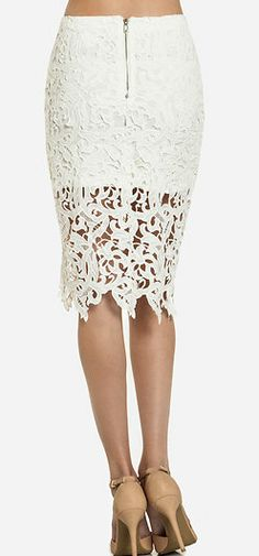If this was my rear view I would be all set!   Gorgeous skirt - Venetian Lace Skirt