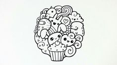 Doodle by pic candle. Doodle Art Designs, Easy Doodle Art, Doodle Doodle, Doodle Art Posters, Doodle Art Journals, Easy Drawings Sketches, Easy Drawings For Kids, Doodles Bonitos, Cute Doodles
