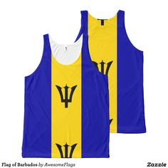 Flag of Barbados All-Over Print Tank Top