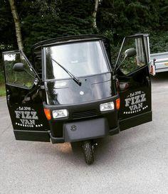 Prosecco Van for hire. Our Fizz Van's new door stickers!  Perfect for weddings, parties, corporate events & festivals