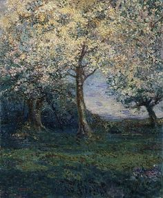An apple orchard in Brittany, (1902) by Charles Conder :: The Collection :: Art Gallery NSW