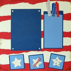 Scrapbook page for 4th of July