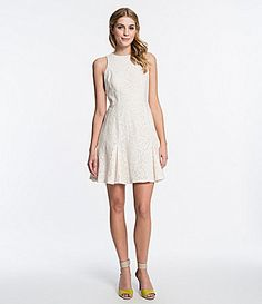 CeCe by Cynthia Steffe Thea Floral Lace Dress #Dillards