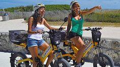 Se você for a Miami, aproveite para passear por South Beach com uma divertida e confortável bicicleta elétrica! http://www.weplann.com.br/miami/-tour-bicicleta-south-beach