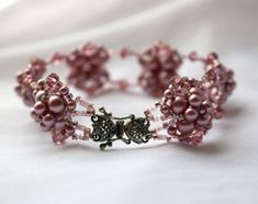 Hand Beaded Bracelet with Sterling Silver Clasp by pjlacasse