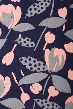 This is listed as a textile by Sally Scott. There's one in Ohio who has clothes online and her aesthetic matches this. Would love to be able to put a face to the work. Excellent colours and styling. Textile Pattern Design, Surface Pattern Design, Textile Patterns, Textile Prints, Pattern Art, Abstract Pattern, Textiles, Art Prints, Motif Floral