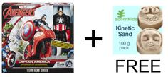 Buy any Avengers and receive a pack of Kinetic sand free!