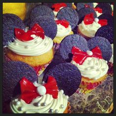 Minnie Mouse cupcakes ❤