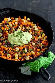 Sweet Potato Hash Recipe with Creamy California Avocado Sauce | cookincanuck.com #sweetpotato #avocado #breakfast by CookinCanuck, via Flick...