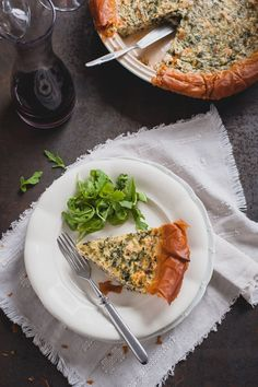 "Salmon, Spinach and Quark Quiche with Phyllo Crust. Photo  recipe: ""Cook your dreams"""