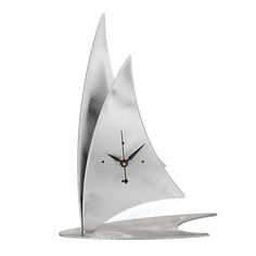 Sailboat Desk Clock | carbon steel clock, handmade, boat décor | UncommonGoods