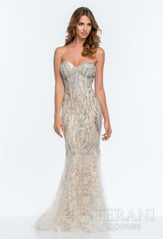 V-neck Scala Prom Dress Embroidered with Sequins at PromGirl.com ...