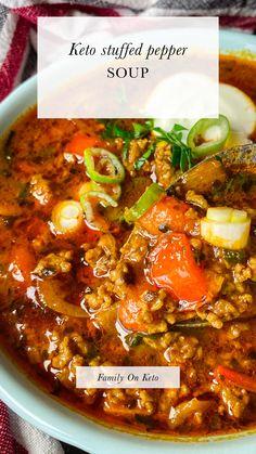 Low Carb Recipes, Beef Recipes, Soup Recipes, Dinner Recipes, Cooking Recipes, Healthy Recipes, Ground Beef Keto Recipes, Healthy Soups, Recipes