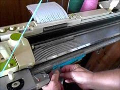 Tuck Stitch Variation On Knitmaster/Studio/Silver Reed Machines - YouTube