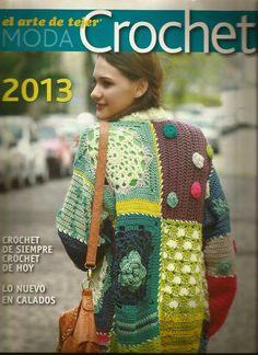 butterflycreaciones / fanaticadel tejido: revista el arte de tejer 2013 Crochet Jacket, Crochet Cardigan, Crochet Shawl, Crochet Stitches, Knit Crochet, Crochet Patterns, Knitting Magazine, Crochet Magazine, Moda Crochet
