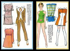 TWIGGY Living Fashion Legend  from Paper Doll Treasures