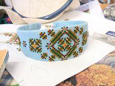 cross stitch headband by pin pals