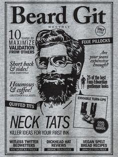 howies - Beard Git.  New howies men's tee. 100% Organic Cotton.