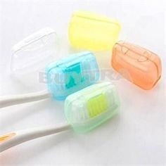 1set/5pcs Portable Travel Toothbrush Head Toothbrush Case Protective Caps Health Germproof Toothbrushes Protector