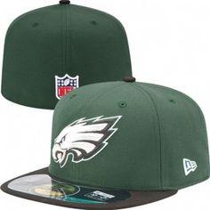 Philadelphia Eagles Official NFL On Field 59Fifty New Era Youth Hat (Green)  Eagles Shop d4e78e8eb