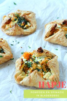 Veggie Recipes, Healthy Recipes, Healthy Food, Spanakopita, Finger Foods, Baked Potato, Foodies, Good Food, Veggies