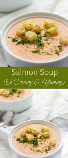 You've got to try this creamy dreamy Salmon Soup. It's healthy, satisfying and incredibly delicious. You'll be making it again!