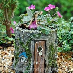 Fairy Homes and Gardens - Ivy Trail Fairy Planter, $18.69 (https://www.fairyhomesandgardens.com/ivy-trail-fairy-planter/)