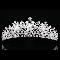 Bridal Snowflake Rhinestone Crystal Prom Wedding Crown Tiara 7914 | eBay
